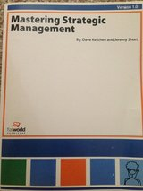 MASTERING STRATEGIC MANAGEMENT, Version 1.0, 2014 in Travis AFB, California
