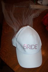 Bride Wedding hat with veil in Conroe, Texas