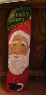 Hand Painted Santa Sign in Glendale Heights, Illinois