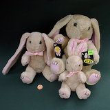VTG LONG-EARED PLUSH RABBITS - FUN DECOR, 3 sizes in Glendale Heights, Illinois