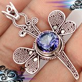 NEW - Dragonfly Rainbow Topaz Pendant with Choice of Chain in Alamogordo, New Mexico