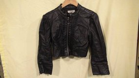 Charlotte Russe Womens black leather jacket in Plainfield, Illinois