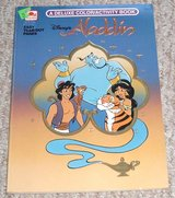 Vintage 1991 Disney's Aladdin Children's Coloring & Activity Book with Rare Easy Tear out Pages in Joliet, Illinois