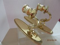 Pair Brass Candle Wall Sconces made in Portugal in Naperville, Illinois