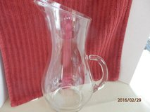 "11"" Glass Pitcher with etched ""B"" in Naperville, Illinois"