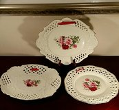 Baum Brothers Formalities Porcelain Victorian Rose Cutwork Pierced Plate in Westmont, Illinois
