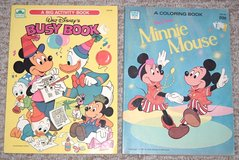 Vintage Lot of 2 81'-82' Walt Disney's Mickey & Minnie Mouse Coloring & Activity Books in Joliet, Illinois