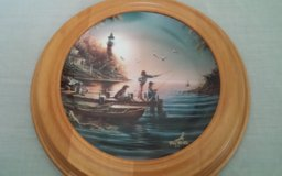 From Sea to Shining Sea Framed Collectors Plate in Conroe, Texas