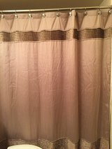 Taupe Shower Curtain & Hooks & Towels in Westmont, Illinois
