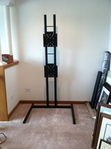 TV Stand-Black Powder Coated Steel in Aurora, Illinois