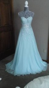 Dress from Peaches Boutique, Mori Lee 13993087 sz 2 mint color in Naperville, Illinois