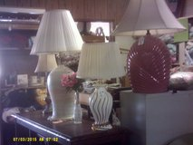 Variety of table and floor lamps in 29 Palms, California