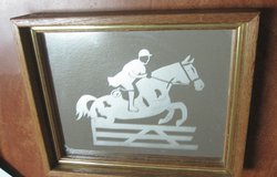 Jumping Horse Mirror  (Etched) Hunter Jumper? in Conroe, Texas