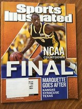 SPORTS ILUSTRATED APRIL 7, 2003 COVER MARQUETTE UNIVERSITY DWYANE WADE in Chicago, Illinois