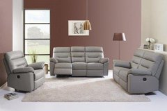 Edmond -dual voltage electric recliner set in Leather including Delivery - monthly payment plans in Spangdahlem, Germany