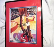 Framed Darius Miles AUTOGRAPHED Print Photo Clippers COA in Houston, Texas