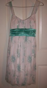 Short White and Turquoise Prom Dress in Cherry Point, North Carolina