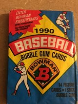 Unopened 1990 Bowman Baseball Packs of Cards with original gum in Oswego, Illinois