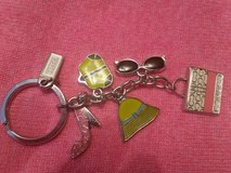 Coach key chain with charms in Naperville, Illinois