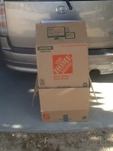 Moving boxes in Yucca Valley, California