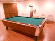 Moving: Valley Panther Pool Table with Pool Cues and Accessories in Joliet, Illinois