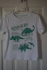 Boys Carter's White Dinosaur Shirt Size 4T in Lockport, Illinois