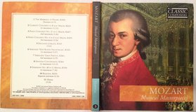 Mozart Musical Masterpieces CD and booklet in Bolingbrook, Illinois
