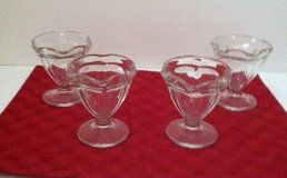 Vintage Glass Tulip Ice Cream Dishes in Glendale Heights, Illinois