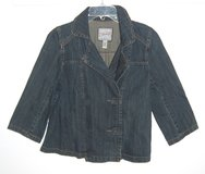 Heritage Double-Breasted Denim Jean jacket Womens Large in Chicago, Illinois