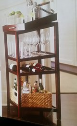 3rd REDUCTION Threshold Wine Storage Tower Rack n Serving Tray (New already Assembled) in Sandwich, Illinois