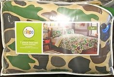 Camo Full-size 7-piece Bed in a Bag with Sheet Set in Chicago, Illinois