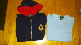 r.lauren hoodie and shirt-size l in Wilmington, North Carolina