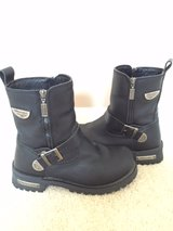 Milwaukee Motorcycle Black Leather Riding Boots Size 8 in St. Charles, Illinois
