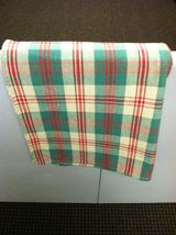 RED/GREEN/TAUPE TABLECLOTHS (2) in Glendale Heights, Illinois