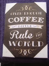New Coffee inspirational kitchen canvas 6.50 X 8.50 in Fort Riley, Kansas
