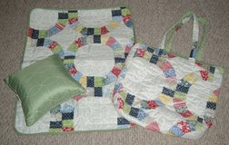 ONLY $2 Baby Bag Quilted Shabby Chic with Matching Pillow and Matt in Plainfield, Illinois