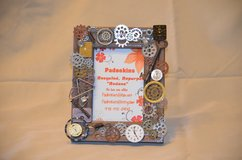 Steampunk 4x6 Tabletop Picture Frame in Byron, Georgia