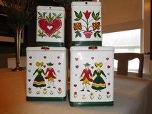Vintage Kreamer Hand Painted Canisters Circa 1940 in Orland Park, Illinois