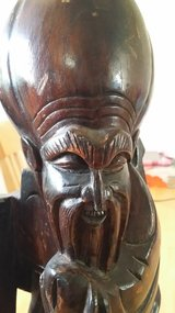 Vintage wood carved Chinese/Asian statue in Naperville, Illinois