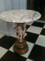 Cherub Accent Italian Marble Table in Naperville, Illinois