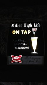 Vintage lighted beer sign in Naperville, Illinois