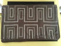 New/Never Used Standard Pillow Shams-Silver/Brown in Yorkville, Illinois