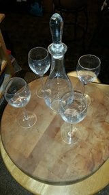 New / Crystal 6 Piece Wine Decanter Set in Fort Campbell, Kentucky