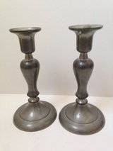 2 Pewter Candle Stick Holders in Naperville, Illinois