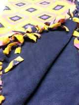 Handmade Fleece Tied Throw 48x60 reduced in Orland Park, Illinois