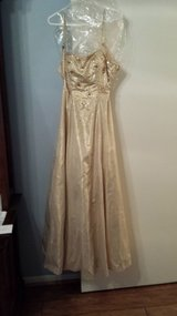 Prom Dress, Size 8, Gold in Houston, Texas