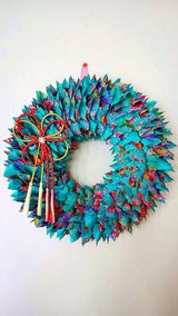 Great Gift! Okinawan style Kimono wreath (with a bow) in Okinawa, Japan