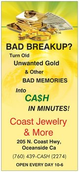 Breakup Jewelry & Unwanted Gold in Camp Pendleton, California