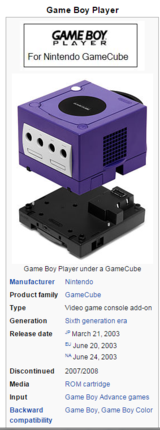 Game Boy Player Nintendo GameCube (DOL-017 GameBoy Game Cube) with Start-Up Disc in Oceanside, California