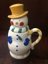 Temptations by Tara Snowman 24 oz Coffee Mug LARGE Cup Tophat Mittens Ovenware in Spring, Texas